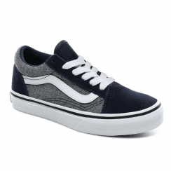 Vans Kids Suede Old Skool Trainers Shoes - Blue/Grey
