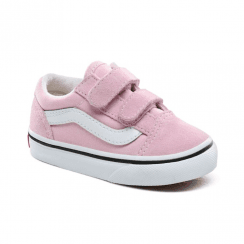 Vans Kids Toddler Old Skool Velcro Trainers Shoes - Pink