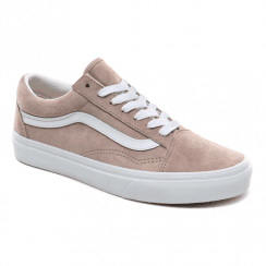 Vans Womens Pig Suede Old Skool Leather Trainers - Taupe Shadow