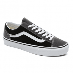 Vans Vintage Suede Style 36 Suede Canvas Trainers - Black/Pewter