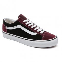 Vans Vintage Suede Style 36 Suede canvas Mix Trainers - Burgundy/Black