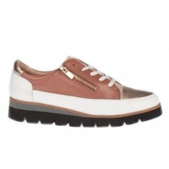 Amy Huberman Notorious Rosewood Block Wedge Platform Womens Sneakers