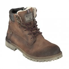 Mustang Mens Casual Lace Up Ankle Boots - Medium Brown