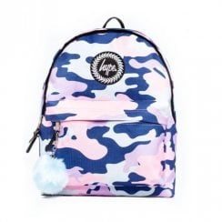 Hype Evie Camo Multi Blue 18 L Backpack BTS19018