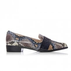 Moda In Pelle Felicitie Multi Snake Leather Loafer Shoes