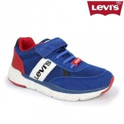 Levi's Kids Oregon Blue Velcro Sneakers