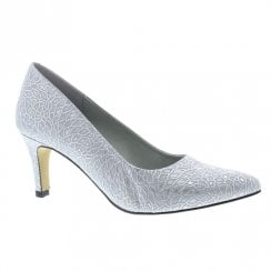 Capollini Liza Silver Pointed Court Heels