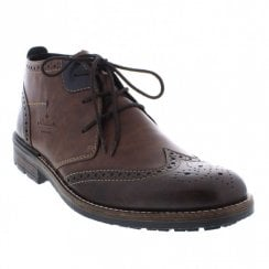 Rieker Mens Brown Lace Up Ankle Boots