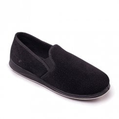 Padders Men's Albert Black Full Slippers