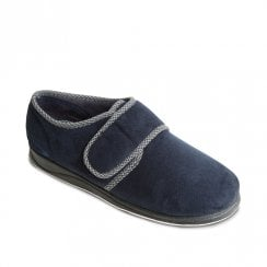 Padders Men's Harry Navy Full Velcro Slippers
