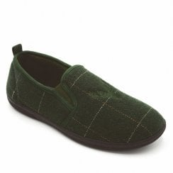 Padders Men's Huntsman Green Combi Full Slippers