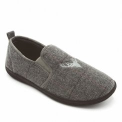 Padders Men's Huntsman Grey Combi Full Slippers