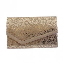 Barino Womens Nude Fabric Clutch Bag - 474