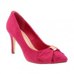 Barino Fuchsia Bow Trim High Heeled Occasion Court Shoes - 466