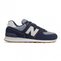 New Balance Mens Navy Denim Sneakers