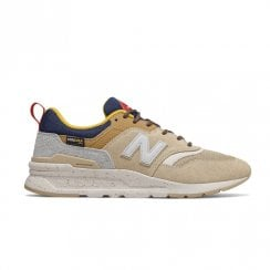 New Balance Mens Beige Sport Style Sneakers