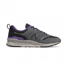 New Balance Mens Grey Purple Running Trainers