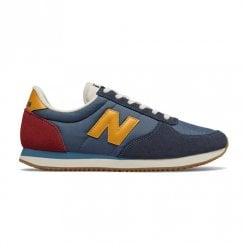 New Balance Mens Navy Yellow Sport Style Sneakers
