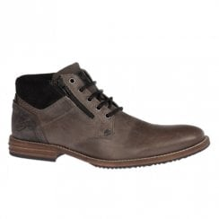 Lloyd & Pryce Mens Wilkinson Slate Lace Up Zip Boots