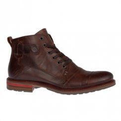 Lloyd & Pryce Mens Hansen Rose Wood Brown Lace Up Ankle Boots