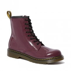 Dr Martens Youth 1460 Patent Plum Leather Ankle Boots