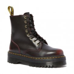 Dr Martens Womens Jadon Arcadia Platform Cherry Red Leather Boots