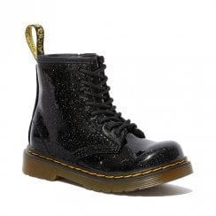 Dr Martens Girls Infant 1460 Glitter Black Ankle Boots