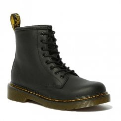 Dr Martens Junior 1460 Softy T Lace Up Black Leather Boots