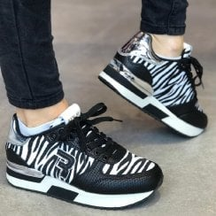 Replay Willanie Womens Zebra Print Trainers