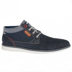 Lloyd & Pryce Mens Purcell Denium Navy Casual Lace Up Shoes