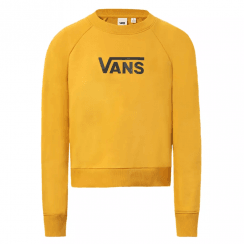 Vans Womens Mustard Mango Long Sleeve Flying V Crew Sweater