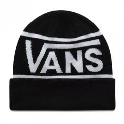 Vans Black Drop V Stripe Cuff Beanie Hat