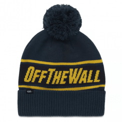 Vans Dress Blues Off The Wall Pom Beanie Hat