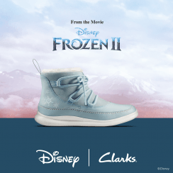 Clarks Cloud Throne Blue 'Frozen' Girls Boots