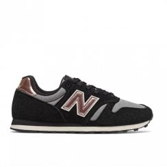 New Balance Womens 373 Lace Up Sneakers - Black Champagne