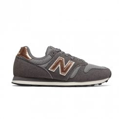 New Balance Womens 373 Lace Up Sneakers - Grey Copper Metallic