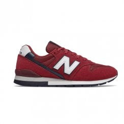 New Balance Mens 996 Lace Up Sneakers - Red