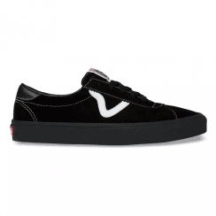 Vans Mens Sport Black Suede Lace Up Sneakers