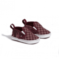 Vans Burgundy Infant Tonal Checkerboard Slip-On V Crib Shoes