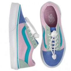 Vans Girls Toggle Old Skool Sneakers - Pink/Mint/Purple