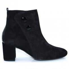Gabor Womens Block Heleed Ankle Boots - Black 35.802.17
