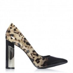 Moda in Pelle Dolian Ombre Leopard/Black Patent Court Shoes