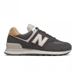 New Balance Womens 574 Lace Up Sneakers - Magnet with Castlerock