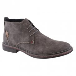 Goor Grey Suede Mens 187 Laced Casual Desert Boots