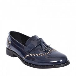 Zanni & Co Mosul One Womens Navy Patent Loafers
