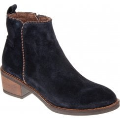 Alpe 4389 Navy Suede Ankle Boot