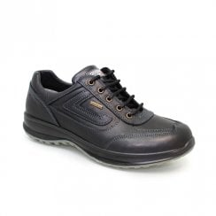 Grisport Airwalker Mens Black Leather Comfort Laced Shoe