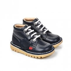 Kickers Kick Hi Classic Infant Boots - Navy