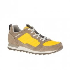 Merrell Mens Alpine Suede Grey/Yellow Sneakers
