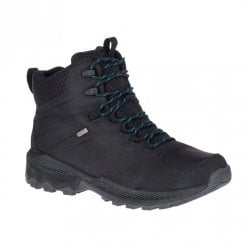Merrell Mens Forestbound Mid Waterproof Trekker Boots - Black